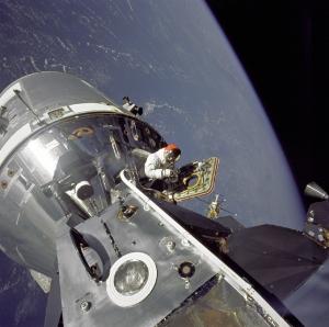 Spider meets gumdrop in space