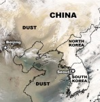 Yellow dust cloud from Gobi